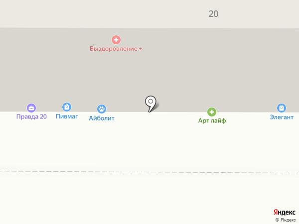 Тенториум на карте Магнитогорска