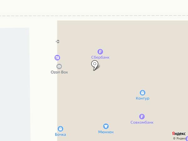 Контур на карте Магнитогорска