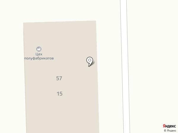 Цех полуфабрикатов на карте Магнитогорска