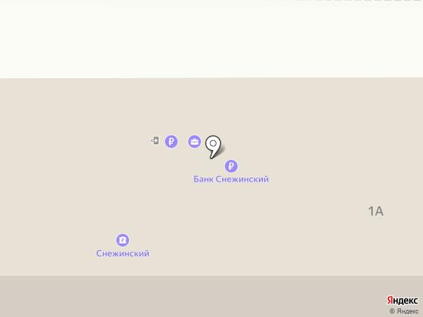 Банк Снежинский на карте Магнитогорска