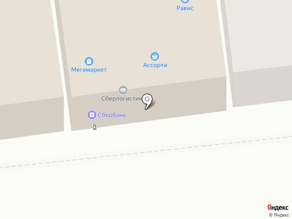 Равис на карте Златоуста