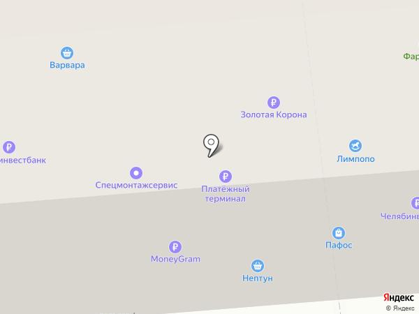 ЧЕЛЯБИНВЕСТБАНК на карте Златоуста