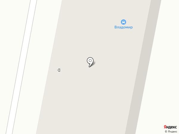 Владомир на карте Златоуста