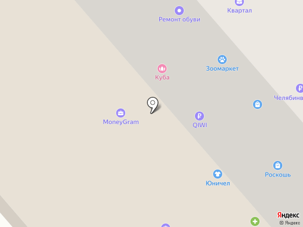 Квартал на карте Златоуста