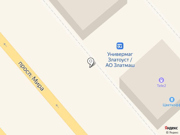 МТС на карте Златоуста