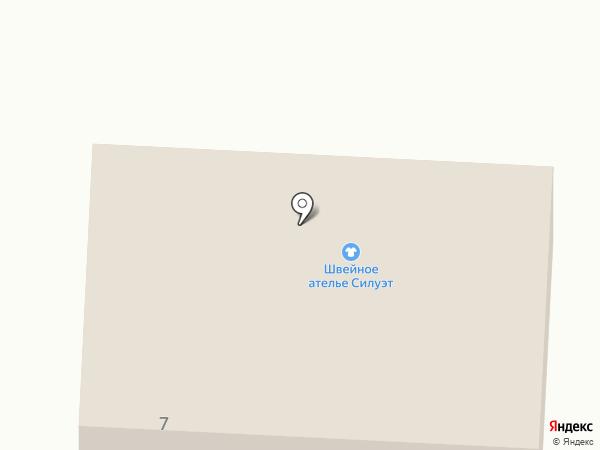 Силуэт на карте Билимбая