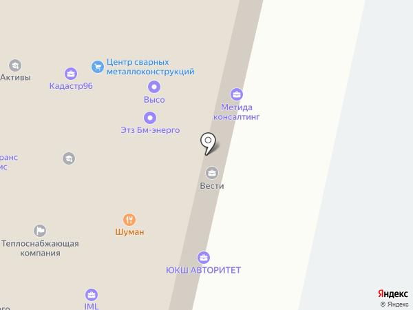 Багира на карте Ревды