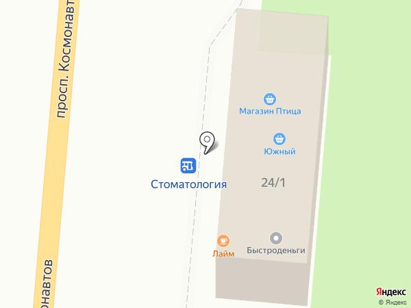 Южный на карте Первоуральска