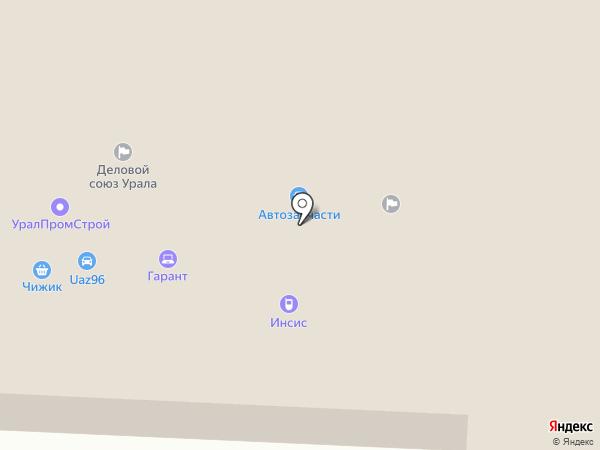 Деревянная лавка на карте Первоуральска