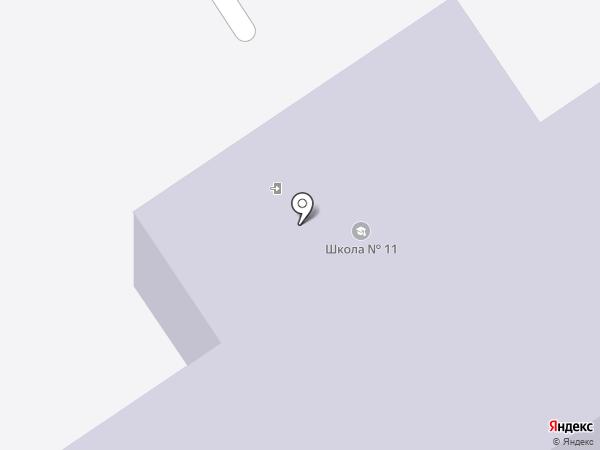 Средняя общеобразовательная школа №11 на карте Первоуральска