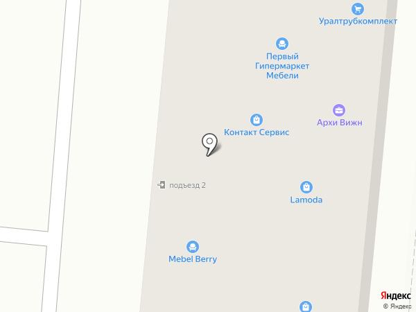 Линда на карте Первоуральска