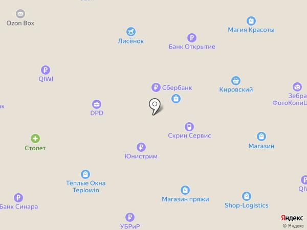 Пчелка на карте Первоуральска