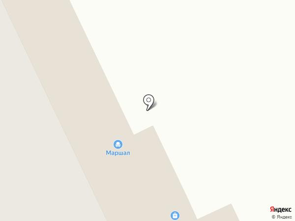 Маршал на карте Нижнего Тагила