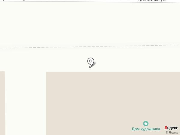 Дом художника на карте Нижнего Тагила