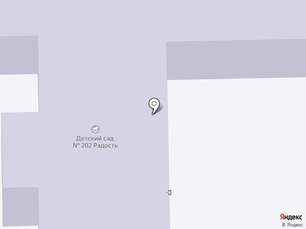 Детский сад №202 на карте Нижнего Тагила