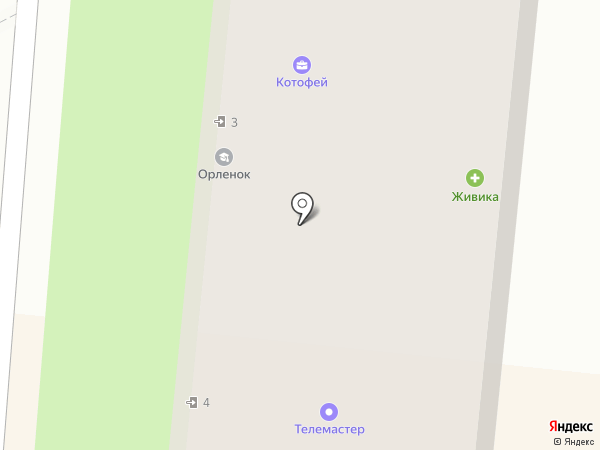 Живика на карте Первоуральска