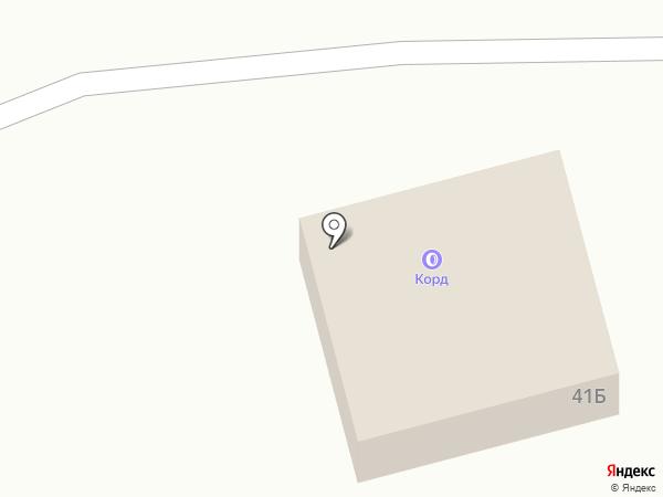 Корд на карте Первоуральска