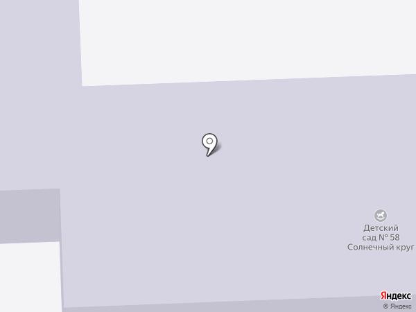 Детский сад №58 на карте Нижнего Тагила