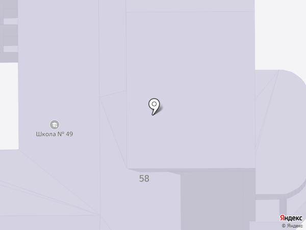 Средняя общеобразовательная школа №49 на карте Нижнего Тагила