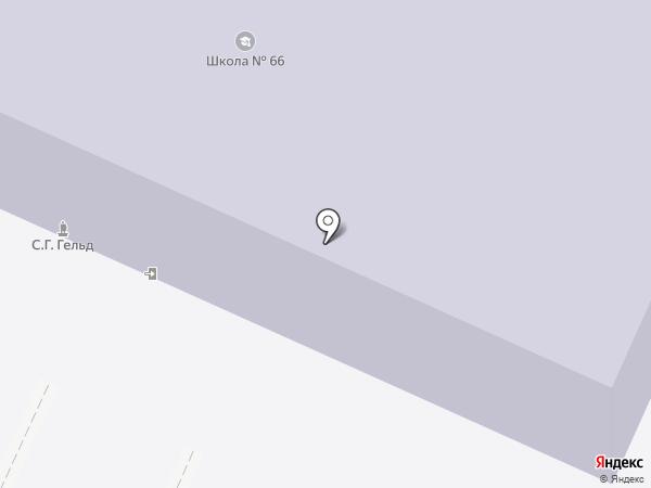 Средняя общеобразовательная школа №66 на карте Нижнего Тагила