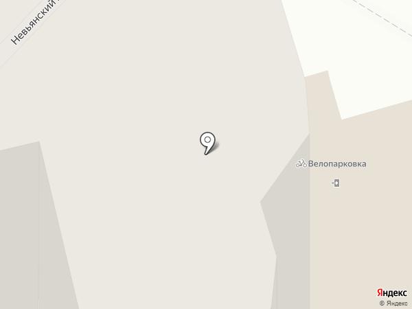Бамбербол-НТ на карте Нижнего Тагила
