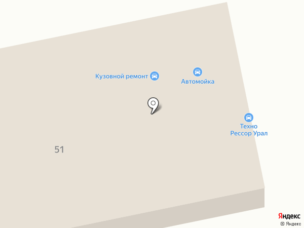 Кулибин на карте Нижнего Тагила