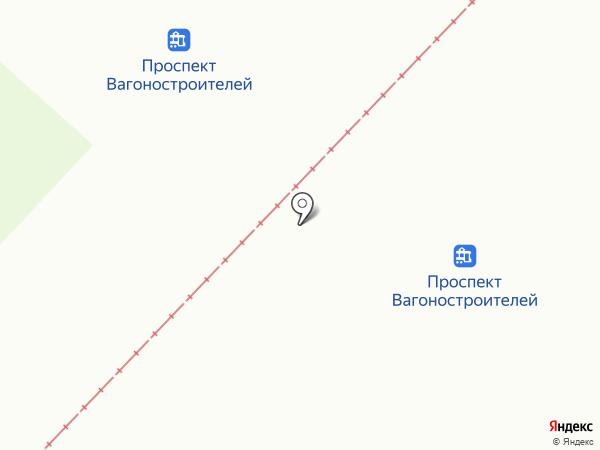 Продуктовый магазин на проспекте Вагоностроителей на карте Нижнего Тагила