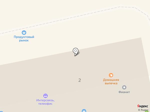 Киоск горячего питания на карте Миасса