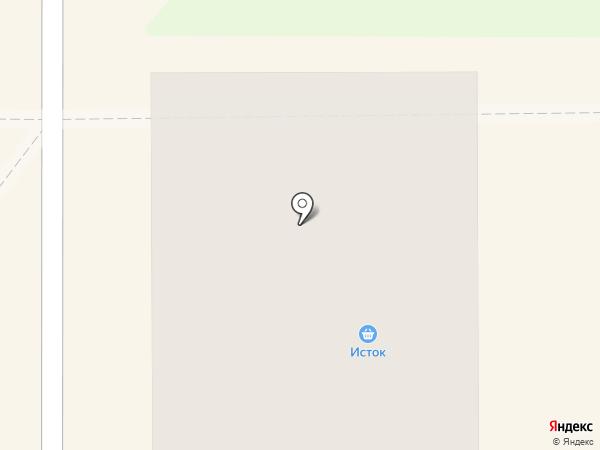 Исток на карте Миасса