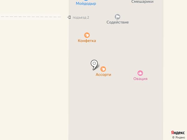 Смешарики на карте Миасса