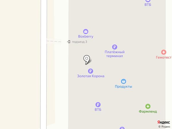 Нью-Фарм на карте Миасса