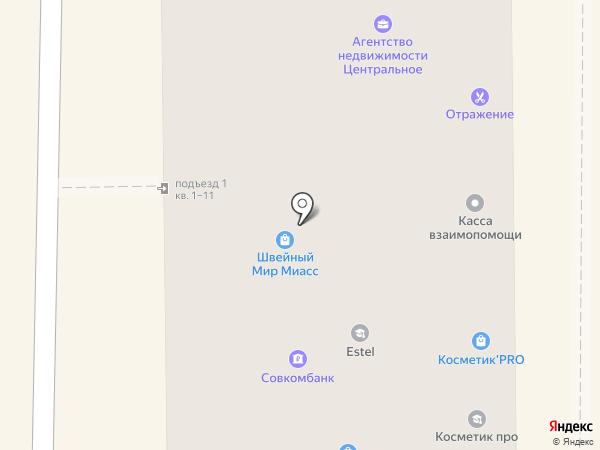 Отражение на карте Миасса