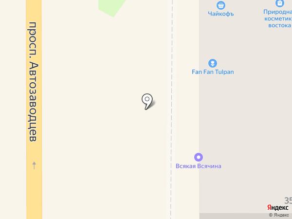 Чайкофъ на карте Миасса