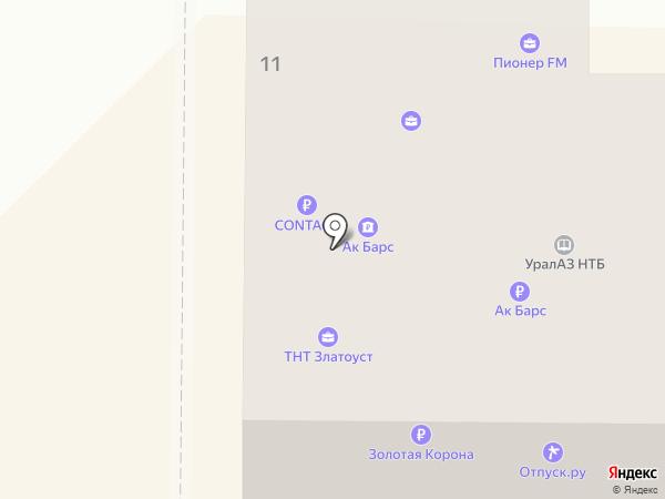 Miass-online.ru на карте Миасса