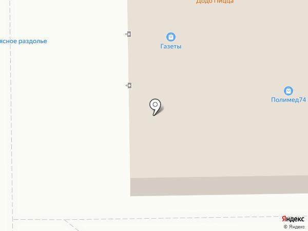 Москва на карте Миасса