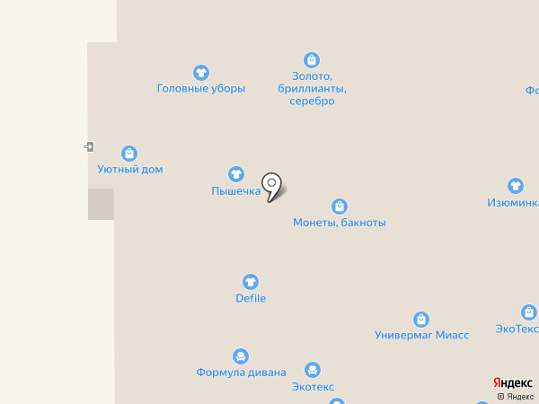 Пышечка на карте Миасса
