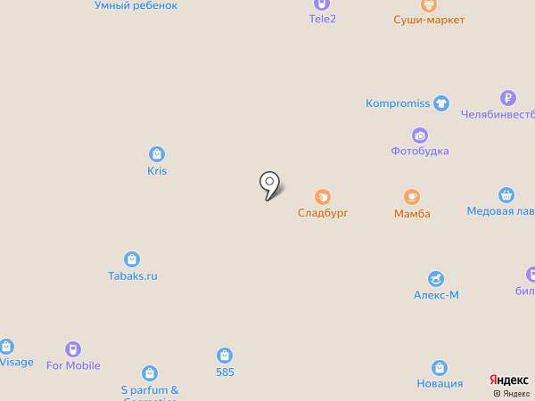 Икорная лавка на карте Миасса
