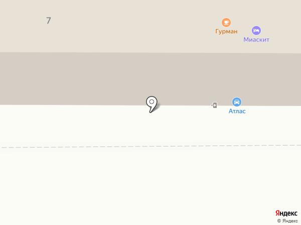 Атлас+ на карте Миасса