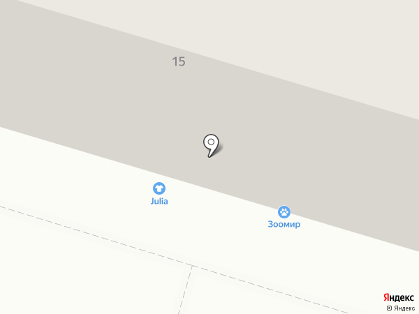 Линия ремонта на карте Нижнего Тагила