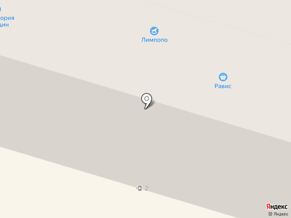 Трилайн на карте Нижнего Тагила