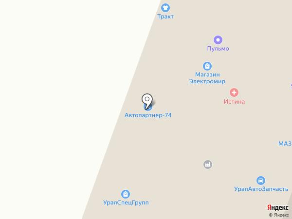 Терус на карте Миасса