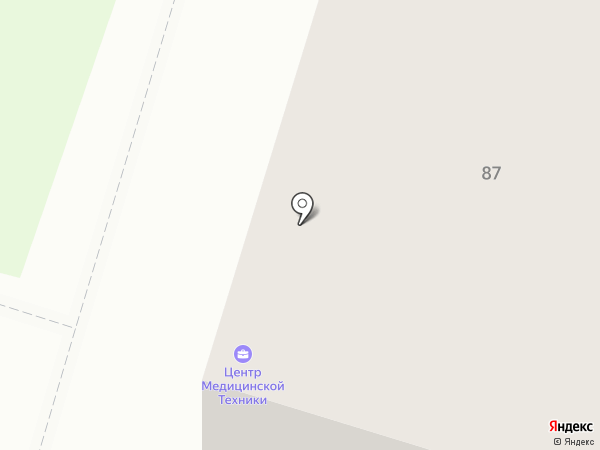 Центр медицинской техники на карте Нижнего Тагила
