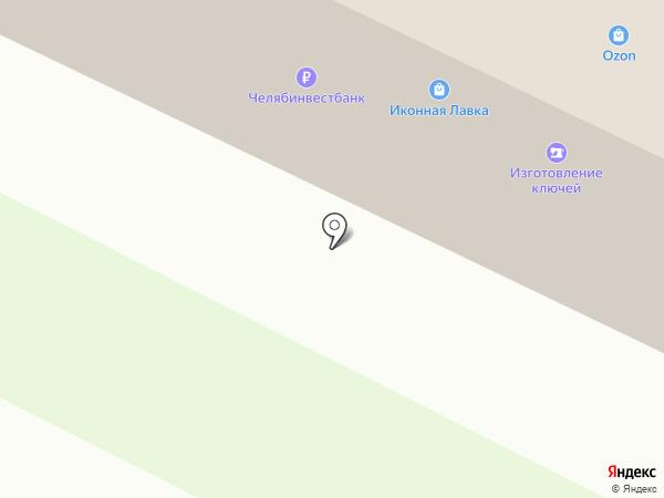 Коника на карте Миасса