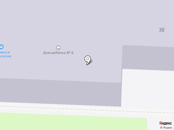 Дом ребенка №6 на карте Миасса