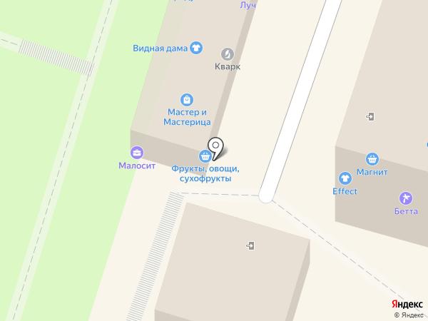 Магазин мужской одежды на карте Миасса