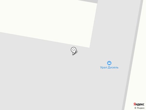 Аннастель на карте Миасса