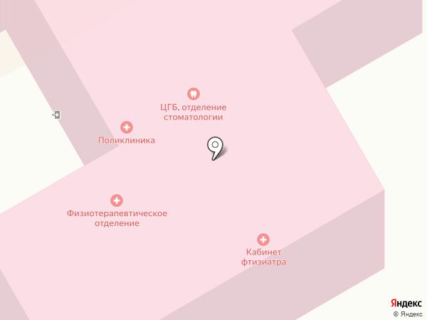 Верхнепышминская центральная городская больница им. П.Д. Бородина на карте Среднеуральска