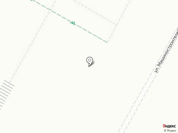 Автостоянка на ул. Машиностроителей на карте Верхней Пышмы