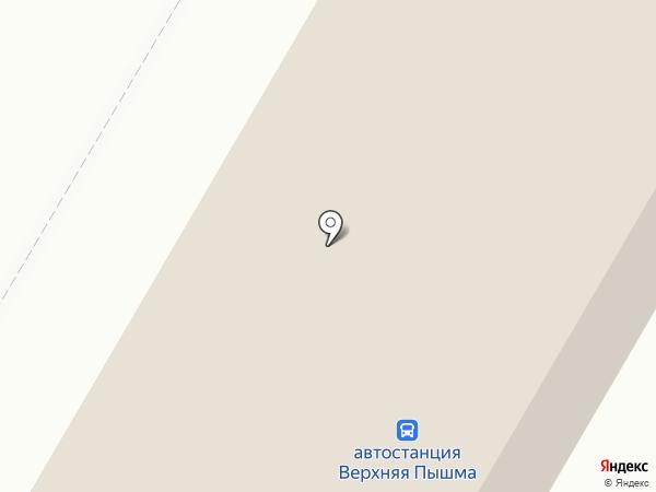 Автостанция на карте Верхней Пышмы