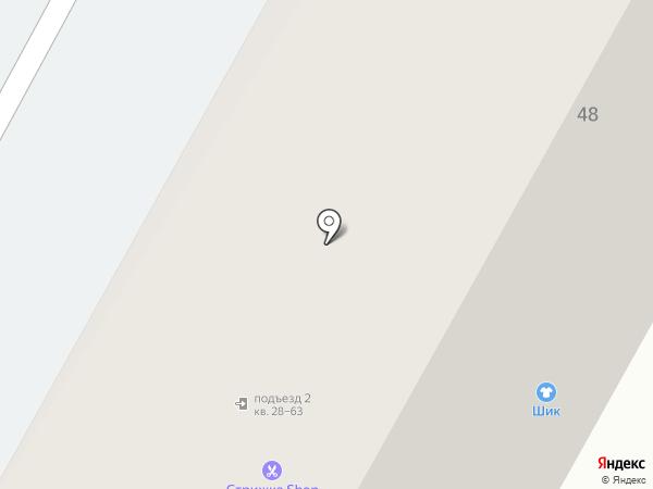 Магазин мебели на карте Верхней Пышмы